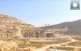 Строительство израильского поселения на западном берегу Иордана. Кадр Euronews