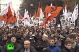 Марш оппозиции в Москве - октябрь 2013. Кадр RT