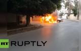 Атаковано российское посольство в Триполи, Ливия. Кадр RT RUPTLY