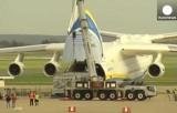 "Самолёт Ан-225 ""Мрия"" в аэропорту Загреба. Кадр Euronews"