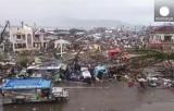 Разрушенный тайфуном Хаян город на Филиппинах. Кадр Euronews