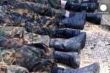 Убитые в ходе мятежа 2009 года пограничники в Бангладеш. Кадр Euronews