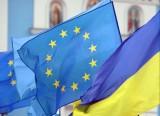 Флаги Украины и Евросоюза. Фото: kharkov.comments.ua