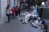 Мадрид тонет в мусоре. Кадр Euronews