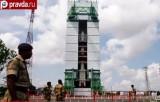 Ракета с индийским зондом для исследования Марса на старте. Кадр pravda.ru