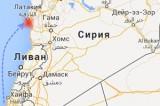 Израильский авиаудар по Сирии (карта Google)