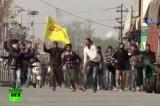 Беспорядки в Кашмире. Кадр RT