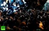 Столкновения протестующих с милицией в Киеве - конец ноября 2013. Кадр RT