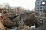 Разрушения на месте взрыва нефтепровода в Китае. Кадр Euronews