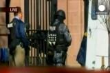 Полицейские перед входом в Йельский университет. Кадр Euronews