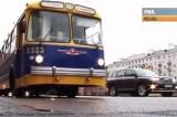 Ретро-троллейбус в Москве. Кадр РИА Новости