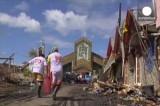 Посёлок на Филиппинах, разрушенный тайфуном Хайян. Кадр Euronews