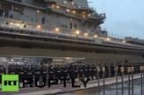 Церемония передачи авианосца Викрамадитья индийскому флоту в Северодвинске. Кадр RT RUPTLY