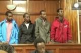 Обвиняемые по делу о нападении на ТЦ Westgate в Найроби, Кения. Кадр Euronews