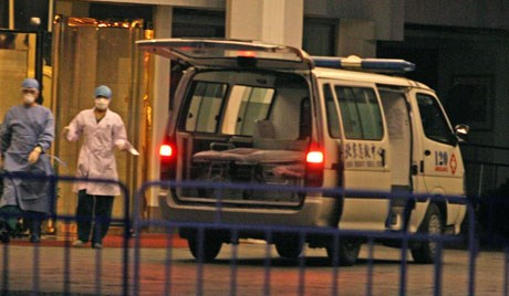 На месте теракта в Шэньси, Китай. Фото: EPA