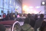 Протесты в Бухаресте. Кадр Euronews