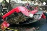 На Филиппинах автобус упал с моста. Кадр Euronews