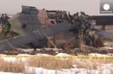 Армейский вертолёт рухнул в Турции. Кадр Euronews