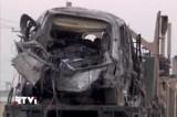 Подорванная смертником американская автоколонна в Кабуле, Афганистан. Кадр RTVI