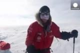 Британский принц Гарри покоряет Южный полюс. Кадр Euronews