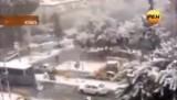 Снег в Израиле в декабре 2013-го. Кадр РЕН-ТВ