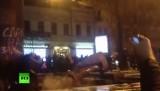 Поверженный памятник Ленину в Киеве. Кадр RT