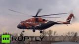 Испытательный полёт вертолёта Ми-38. Кадр RT RUPTLY