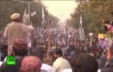 Митинг против беспилотников США в Лахоре, Пакистан. Кадр RT