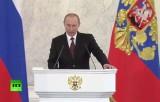 Владимир Путин зачитывает послание федеральному собранию 12 декабря 2013. Кадр RT