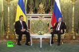 Встреча Владимира Путина и Виктора Януковича в Москве. Кадр RT