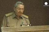 Президент Кубы Рауль Кастро. Кадр Euronews