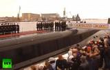 Подводный ракетоносец «Александр Невский» передан ВМФ России. Кадр RT