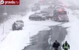 Снежно-транспортный коллапс в США. Декабрь 2013. Кадр pravda.ru