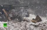 Военная реконструкция на 70-летие блокады Ленинграда. Кадр RT