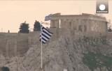 Флаги Греции над Акрополем. Кадр Euronews