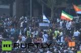 Акция протеста негров в Израиле. Кадр RT