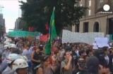 Антифутбольный протест в Бразилии. Кадр Euronews
