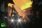Пожар в Дукэ-Цзун, провинция Шангри-Ла, Китай. Кадр RT