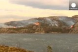 Пожары в норвежском посёлке Флатангер. Кадр Euronews