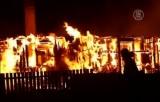 Пожар в норвежском городе Лердалсёйри. Кадр NTDTV