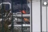 Пожар на заводе Shell в Германии. Кадр Euronews