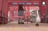 Китайский грузовой терминал. Кадр Euronews