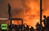 Беспорядки на улице Грушевского в Киеве. Кадр RT RUPTLY