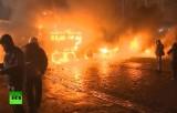 Беспорядки на улице Грушевского в Киеве. Кадр RT