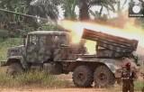 Обстрел позиций боевиков в Конго. Кадр Euronews