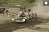 """Немецкий """"коррупционный"""" танк для Греции. Кадр Euronews"""