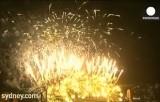 Новогодний фейерверк на мосту Харбор-Бридж в Сиднее. Кадр Euronews