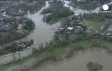 Наводнение в окрестностях Лондона. Кадр Euronews
