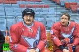 Лукашенко в хоккейной экипировке. Кадр RT
