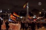 Демонстрация в поддержку жителей Бургоса в Мадриде, Испания. Кадр NTDTV